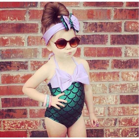 Đồ bơi cho bé gái hình tiên cá cực đáng yêu