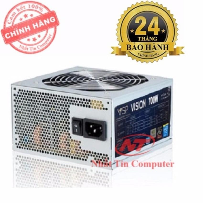 Nguồn dành cho máy tính bàn Vision 700W - Fan 12cm (bạc)