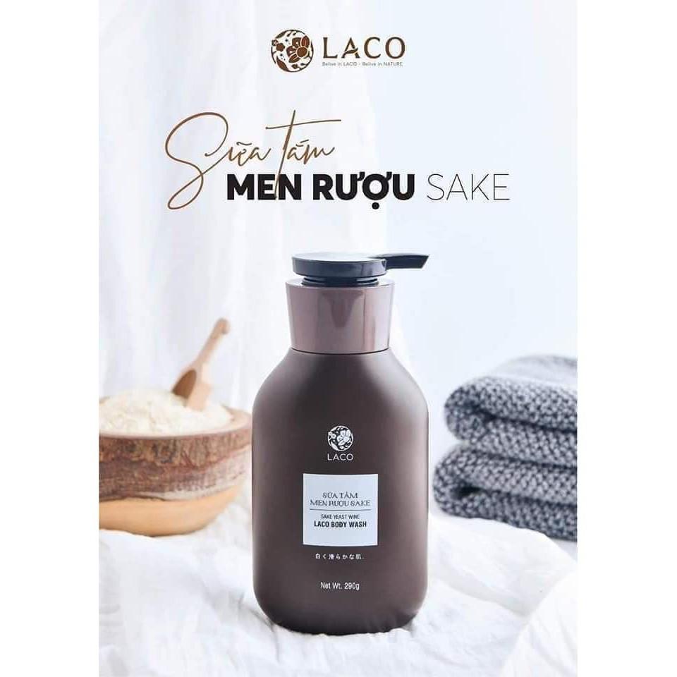 Sữa Tắm Dưỡng Trắng Da Men Rượu SAKE LACO ☘️Siêu Hot Cam Kết Chính Hãng