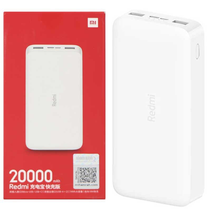 Pin Sạc Dự Phòng Xiaomi Redmi Power Bank 20000 mAh 18W - Chính hãng- BH 6 tháng
