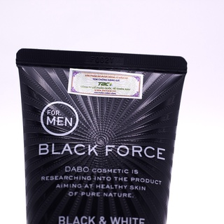 chất lượng tốt Sữa rửa mặt cao cấp dành cho nam Dabo Black Force Black & White Mild Scrub 120ml thumbnail