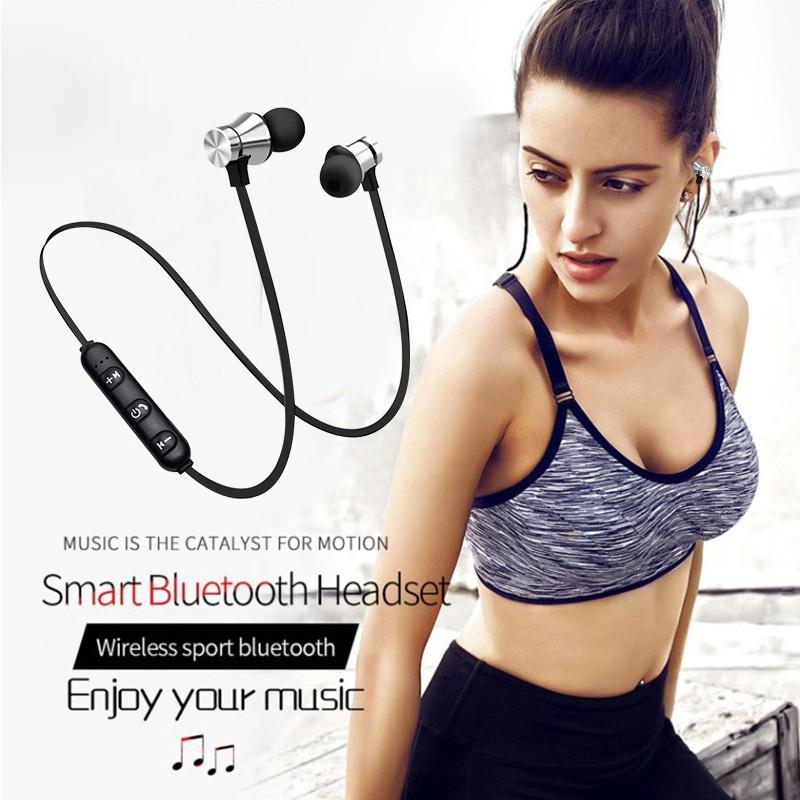 Tai nghe bluetooth thể thao có nam châm kèm mic cho iPhone 8 X 7 Xiaomi