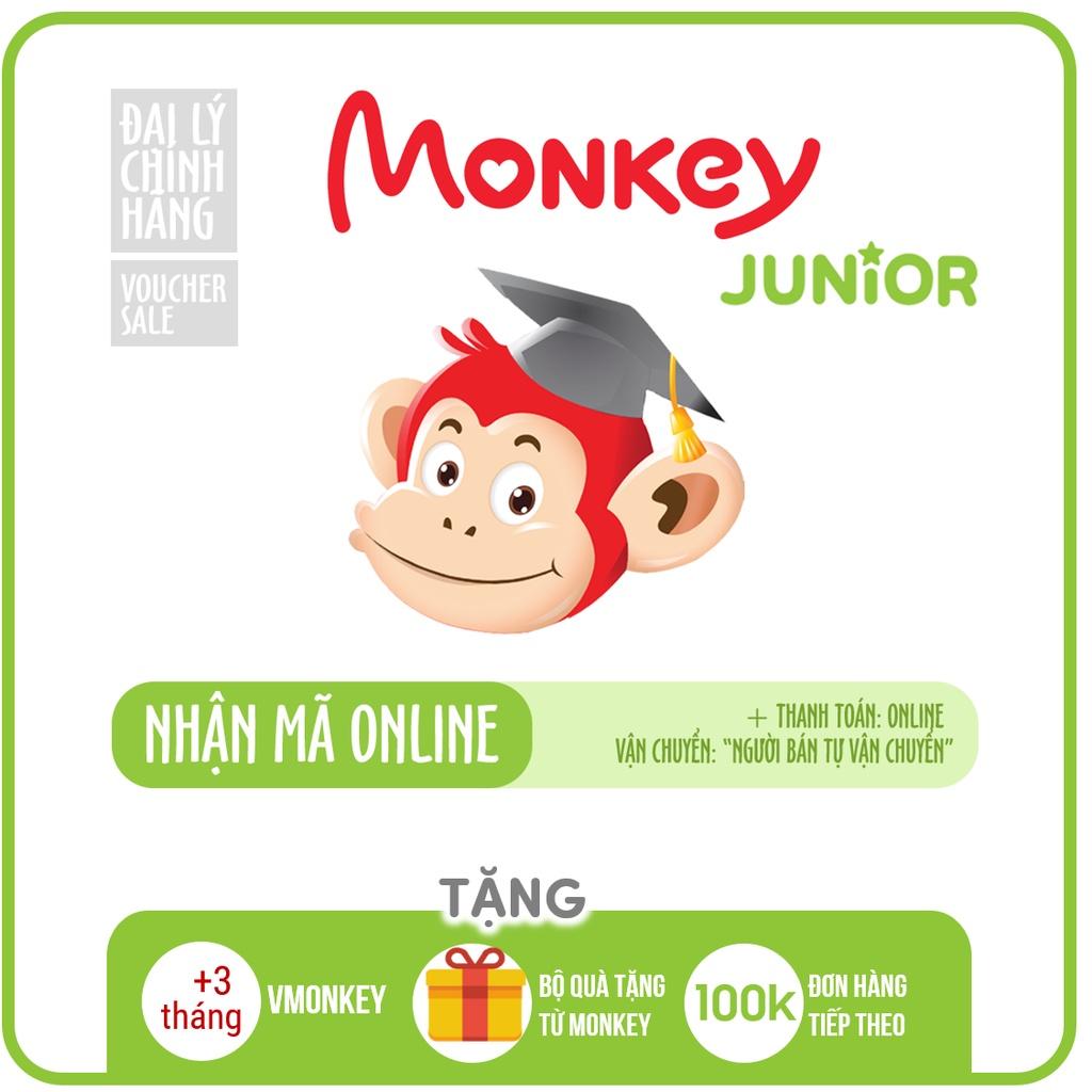 Monkey Junior - Toàn quốc [E-voucher] -Voucher Mã học phần mềm Tiếng Anh (Trọn đời, 2 năm, 1 năm)