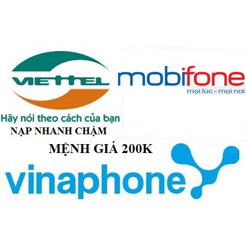 thẻ viettel vina mobi 200k nạp nhanh chậm - 3519385 , 959152684 , 322_959152684 , 200000 , the-viettel-vina-mobi-200k-nap-nhanh-cham-322_959152684 , shopee.vn , thẻ viettel vina mobi 200k nạp nhanh chậm