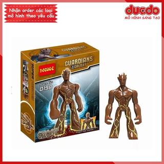 Bigfig siêu anh hùng Groot Galaxy Guardians - Đồ chơi Lắp ghép Xếp hình Mini Minifigures Big Fig Iron Man DECOOL 0198 thumbnail