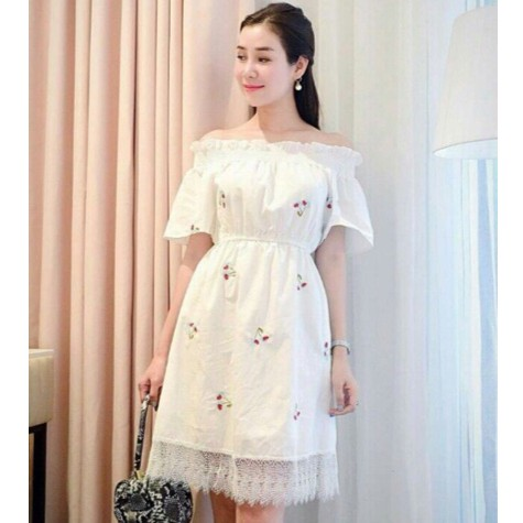 Đầm Hàn Quốc, đầm tiểu thư in hoa nhí