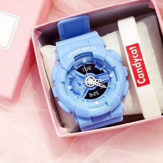 (Giá sỉ) Đồng hồ thời trang nam nữ Candycat chạy kim giả điện tử mẫu mới