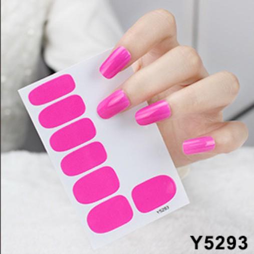 Bộ sticker dán móng tay 3D trơn đơn giản đẹp