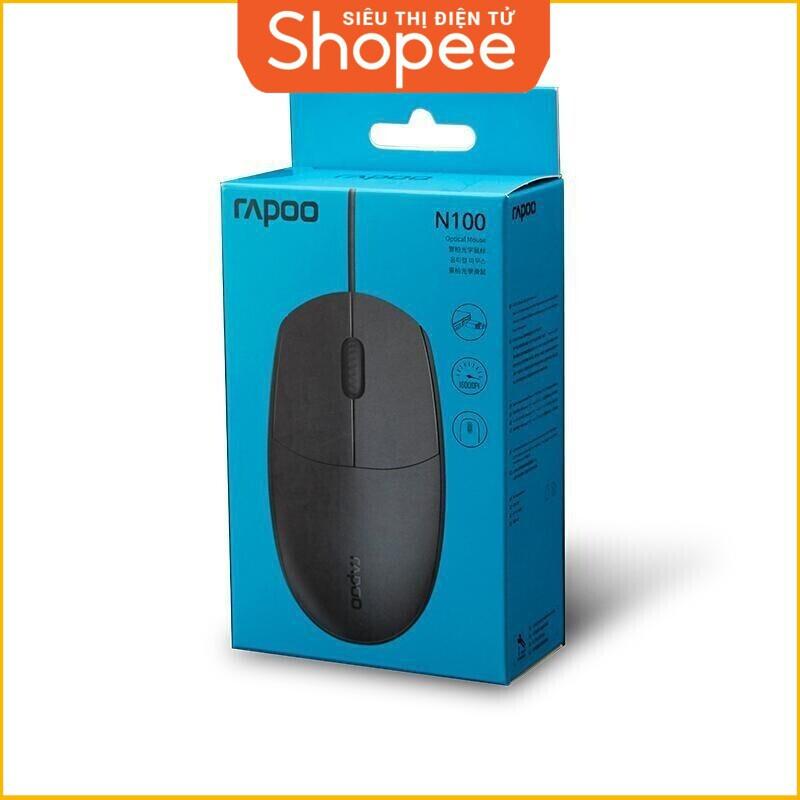 [Siêu Khuyến Mãi] Chuột có dây RAPOO N100 / USB (Đen)