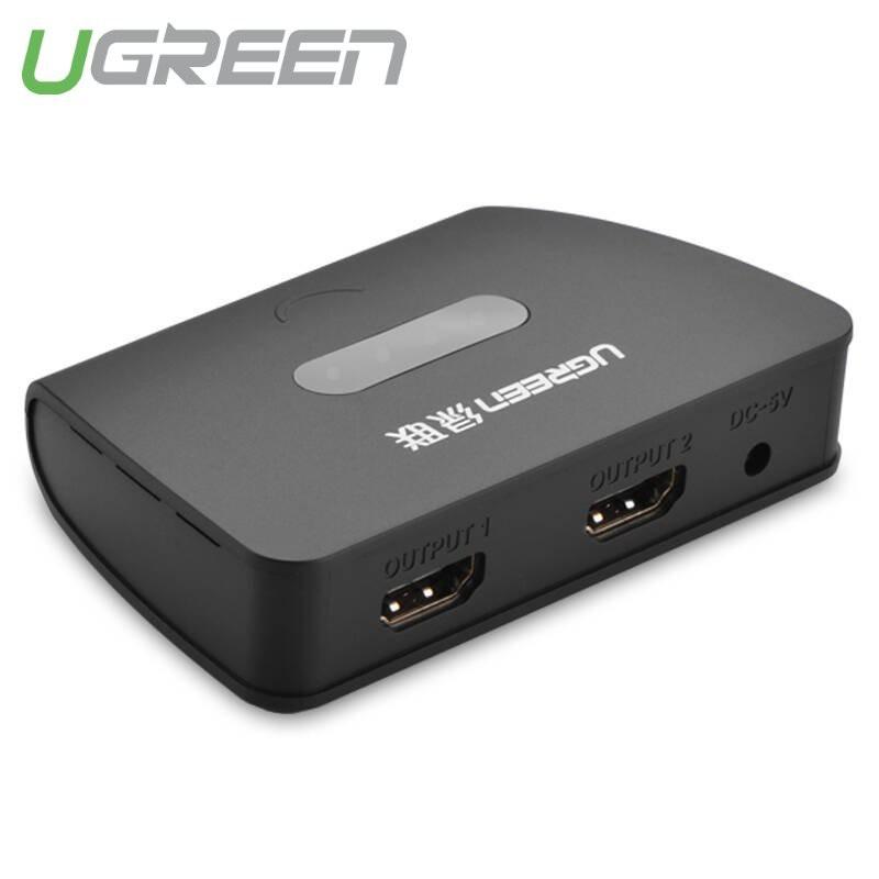 Bộ chia HDMI 1 cổng ra 2 cổng - UGREEN 40207 (màu đen)