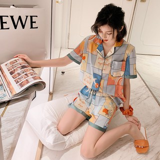 [Có sẵn] Bộ mặc nhà Pijama lụa TRUST Quảng Châu cao cấp cực mềm mại