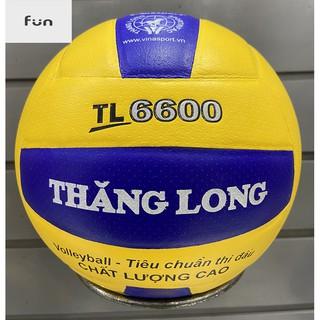 Bóng Chuyền Thi Đấu Thăng Long CHÍNH HÃNG PU6600 Tặng Kim Bơm+Túi Lưới Giá Rẻ!!!