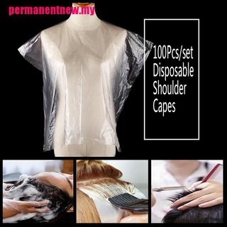 (hàng Mới Về) Set 100 Áo Choàng Nhuộm Tóc Dùng Một Lần Bằng Pe Tiện Dụng