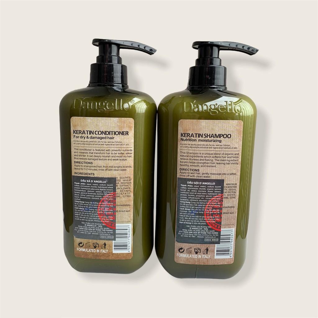 Bộ dầu gội xả phục hồi tóc hư tổn siêu mượt DANGELLO 800ML- HÀNG CHÍNH HÃNG CT54