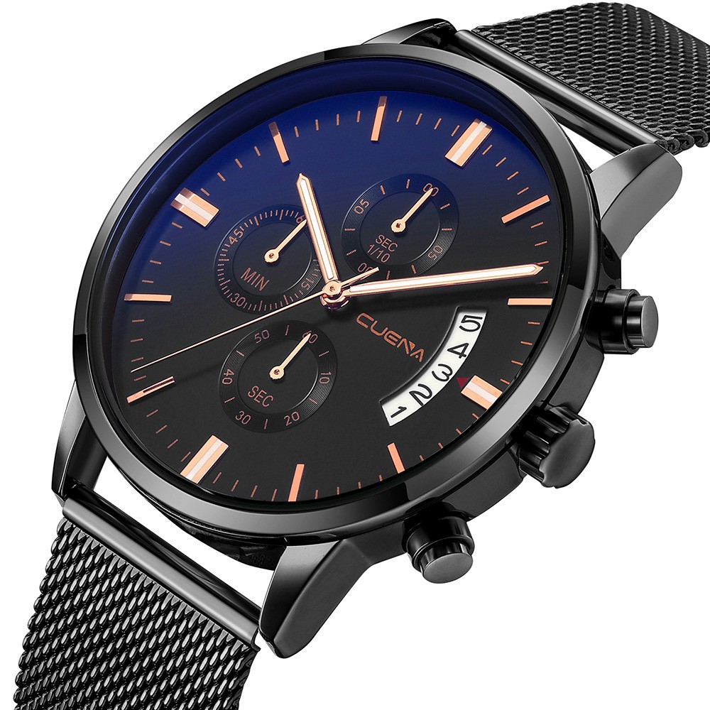 Đồng hồ nam dây lưới CUENA CU1805 đẳng cấp thời thượng nam tính thanh lịch
