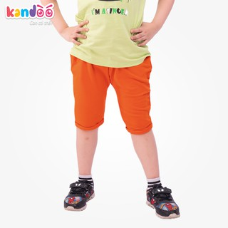 Quần Short bé trai KANDOO màu cam , 100% cotton cao cấp mềm mịn, thoáng mát, an toàn cho bé - DBSO1701