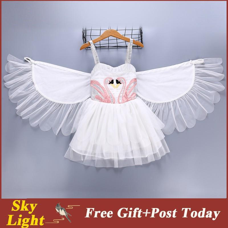 Đầm công chúa phối cánh thiên thần cho bé gái
