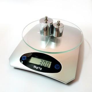 Cân Điện Tử Nhà Bếp Mini Mặt Kính Cường Lực 5kg - Cân nhà bếp để bàn