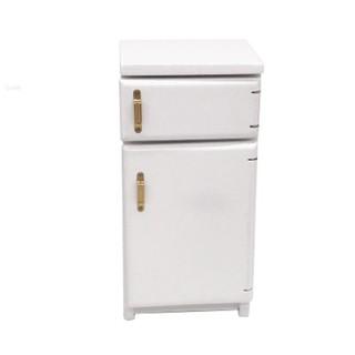SuneiMiniature White Fridge Refrigerator For 1:12 Dollhouse Kitchen Furniture Decor
