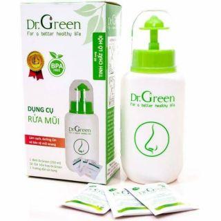 Bình rửa mũi an toàn cho bé tặng kèm 10 gói dung dịch – Dr. Green