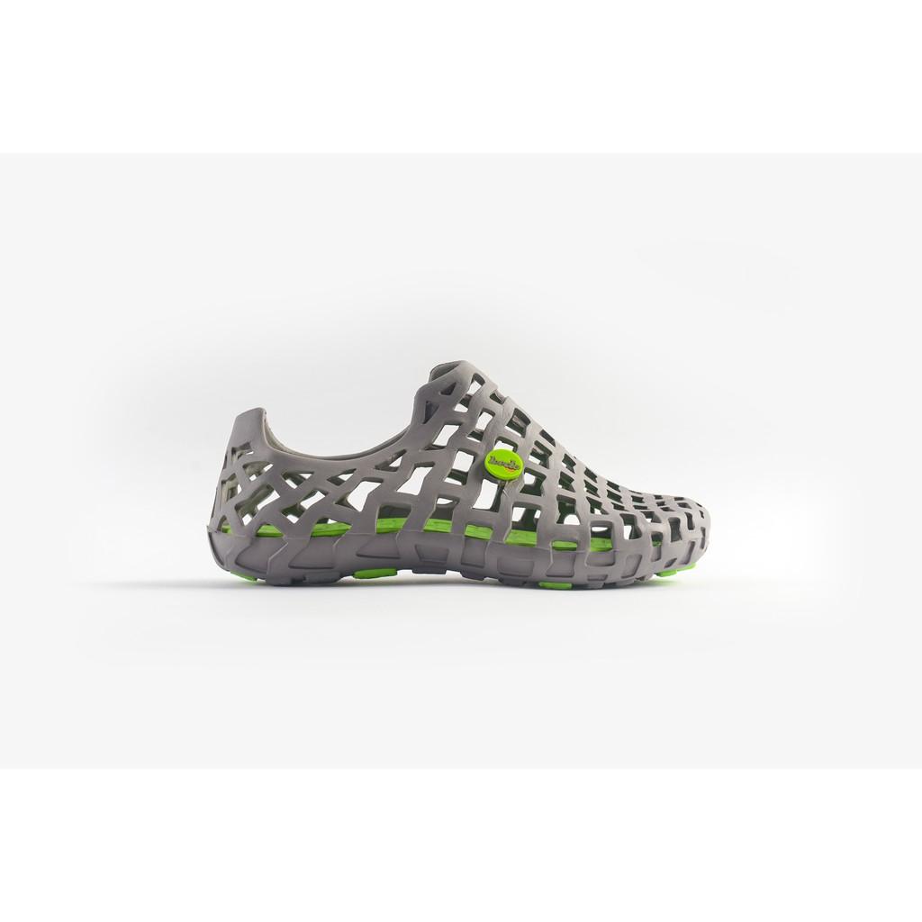 Giày nhựa đi mưa Nam Leedo 101 Xám xanh lá