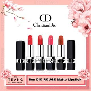 Son Dior 𝗥𝗼𝘂𝗴𝗲 𝗠𝗮𝘁𝘁𝗲 Full Size, Son lì màu đỏ tươi chính hãng Pháp
