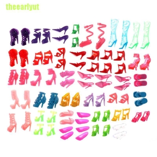 theearlyut 80pcs Mixed Different High Heel Shoes Boots for Doll Dresses Clothes 80pcs/40pair Mixed Different High Heel Shoes Boots for Doll Dresses Clothes 80pcs Mixed Different High Heel Shoes Boots Cloth Accessories For Doll 80pcs Different Shoes Bo