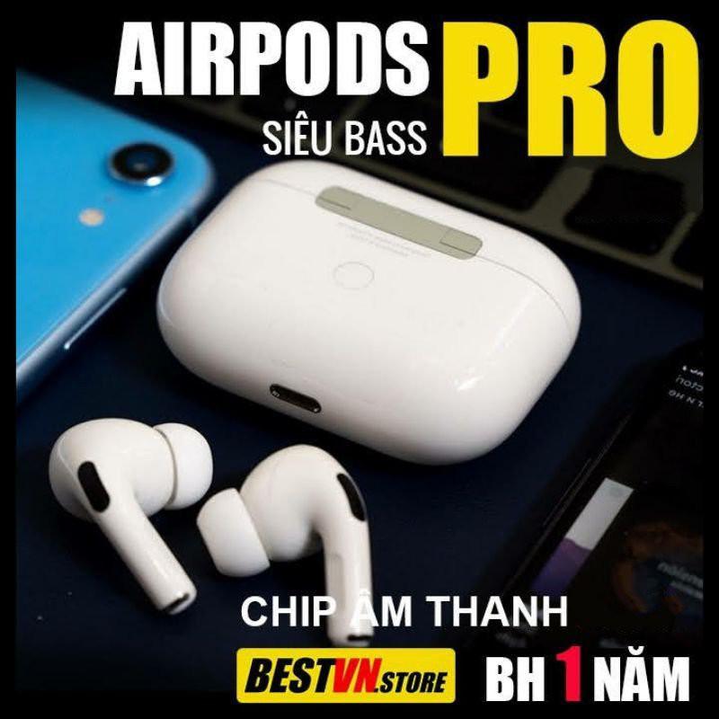 Tai Nghe Bluetooth AIRPODS PRO💕 Chống Ồn Xuyên Âm Đổi Tên Định Vị Tháo Tai Dừng Nhạc 💕 Bảo Hành 12 Tháng 1 Đổi 1
