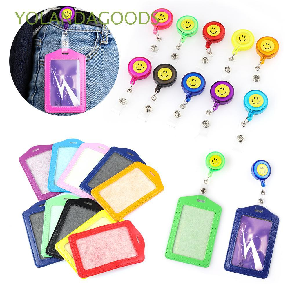 Office Supplies Ski Retractable Pull Carabiner Style Reels Recoil Card Badge Holder