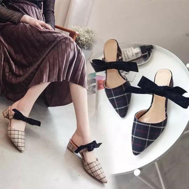 Order giày sọc caro