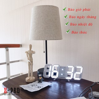 """[FREE SHIP ĐƠN TỪ 50K] Đồng hồ LED 3D SMART CLOCK treo tường, để bàn """"bừng sán không gian nhà bạn!""""…"""