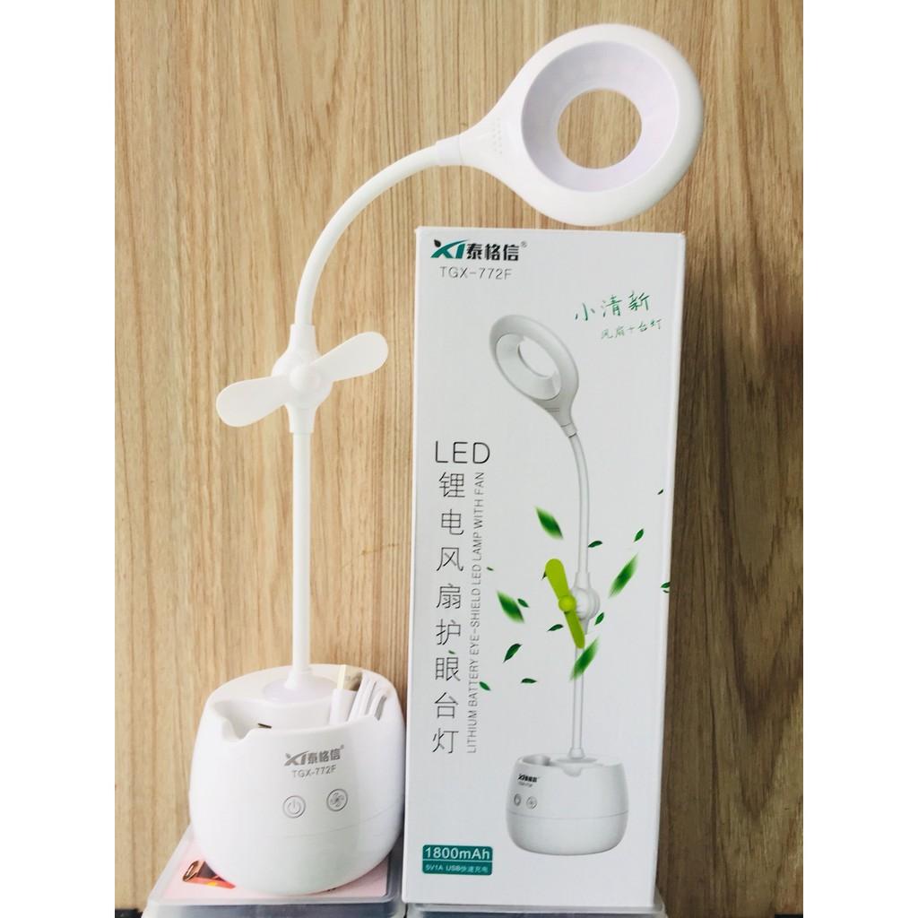 Đèn LED sạc để bàn tích hợp quạt ,kiêm đèn ngủ cảm ứng TGX-772F (Trắng) - 23076663 , 1512264952 , 322_1512264952 , 220000 , Den-LED-sac-de-ban-tich-hop-quat-kiem-den-ngu-cam-ung-TGX-772F-Trang-322_1512264952 , shopee.vn , Đèn LED sạc để bàn tích hợp quạt ,kiêm đèn ngủ cảm ứng TGX-772F (Trắng)