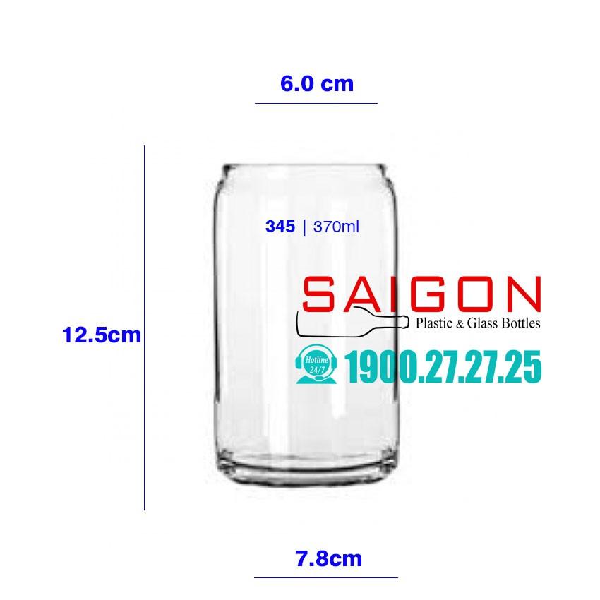 Ly Thủy Tinh Glass Can 370ml | Thủy Tinh Cao Cấp