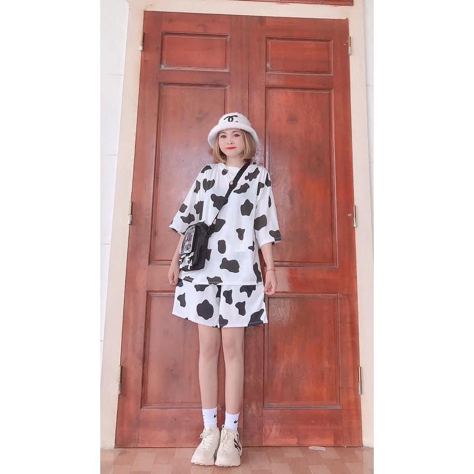 Quần short đùi unisex Bò sữa thun nam nữ chất đẹp form rộng thoải mái basic streetwear mặc nhà, chơi thể thao