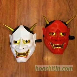 Mặt Nạ Quỷ Hannya Oni Nhựa Cứng Ma Quỷ Kinh Dị Halloween