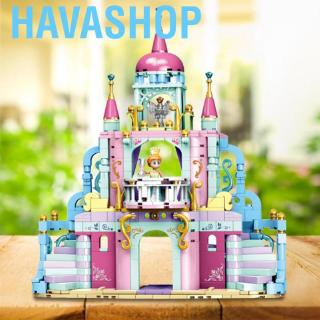 Havashop Building Blocks Assemble Plastic Princess Castle Block Educational Toys for Kids