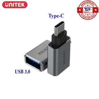 [Mã ELFLASH5 giảm 20K đơn 50K] Đầu chuyển Type-C sang USB 3.0 Female OTG - Unitek Y-A025CGY / Y-A025DGY