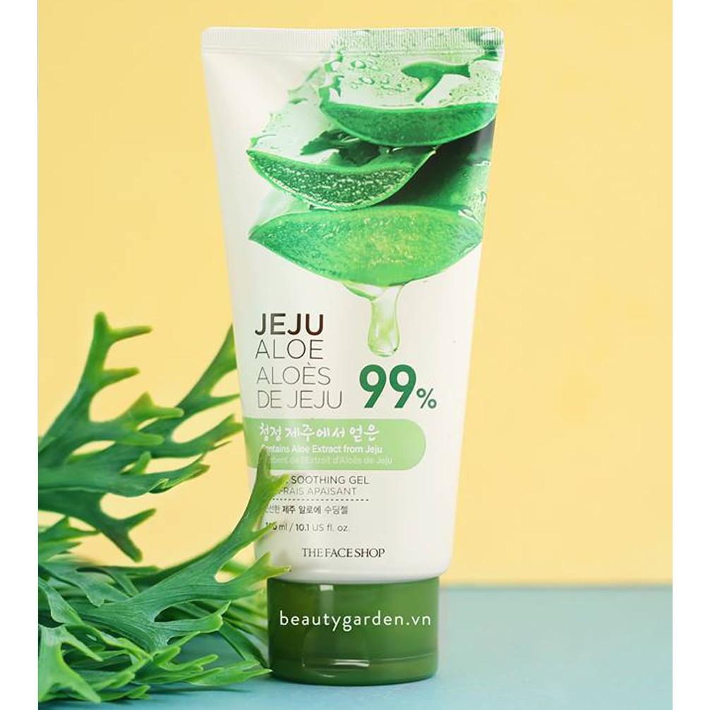 [Mã giảm 10% đơn 199K] Gel Dưỡng Da Đa Năng TheFaceShop Jeju Aloe Fresh Soothing Gel (Tube) 300ml