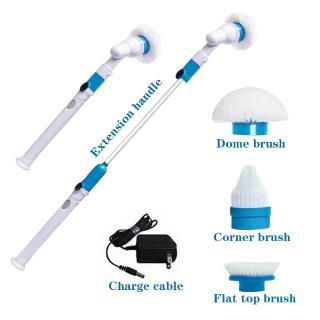 Bàn chải điện dọn vệ sinh không dây sạc không thấm nước tay cầm dài đa chức năng thumbnail