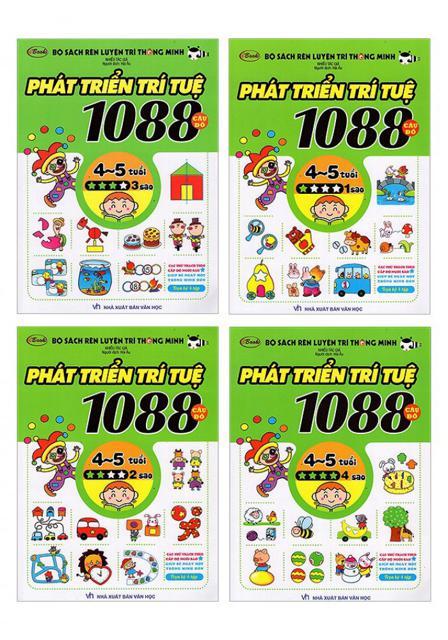 Bộ Sách Rèn Luyện Trí Thông Minh - 1088 Câu Đố Phát Triển Trí Tuệ 4 - 5 Tuổi