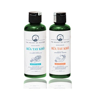 Combo 2 chai nước rửa tay khô tinh dầu Bạc hà PK 100ml và Cam PK 100ml - kết hợp tinh dầu tràm trà, diệt khuẩn-0
