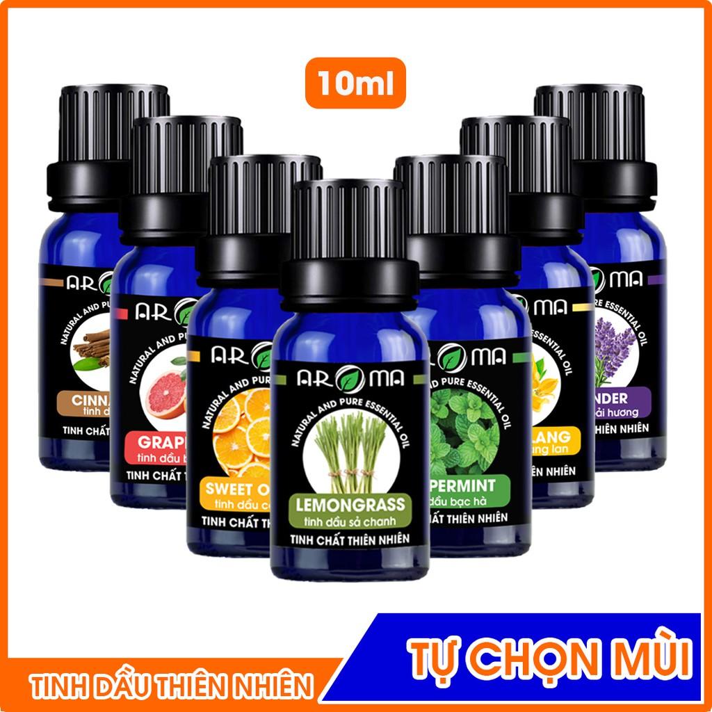 Tinh dầu AROMA nguyên chất tự nhiên tinh dầu thơm phòng nhiều mùi tự chọn 10ml