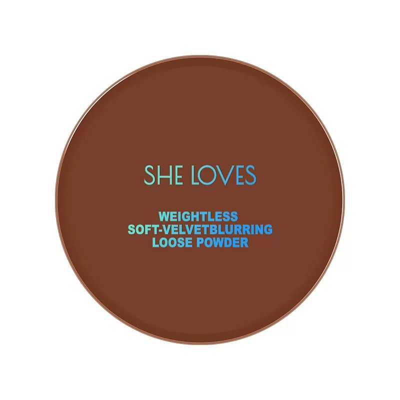 Phấn phủ bột SHE LOVES kiềm dầu mịn lì Weightless Soft-velvet Blurring Loose Powder