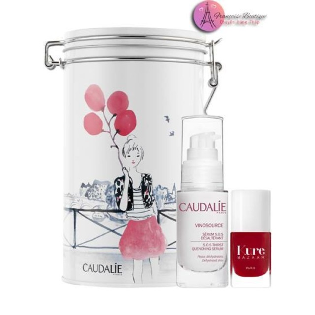 Set Serum Caudalie SOS vinosource thirst quenching + sơn móng tay