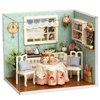 Mô hình nhà gỗ búp bê dollhouse DIY – H008 Happy Kitchen