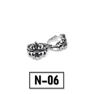 Nhẫn titan hoạ tiết chrom heart bản hoạ tiết nổi – Mẫu N-06
