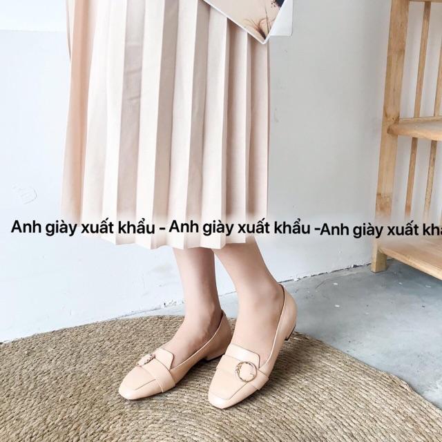 GB30/Giày moca da mềm khoá tròn mũi vuông ( ảnh thật, kèm video)