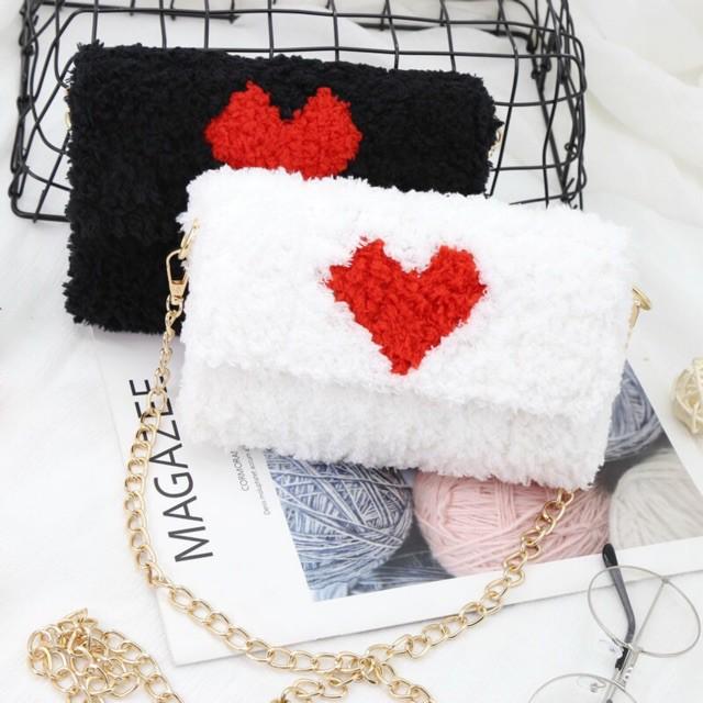 Túi handmade tự đan túi đeo chéo túi handmade len xù DIY kèm đầy đủ phụ kiện hot tik tok