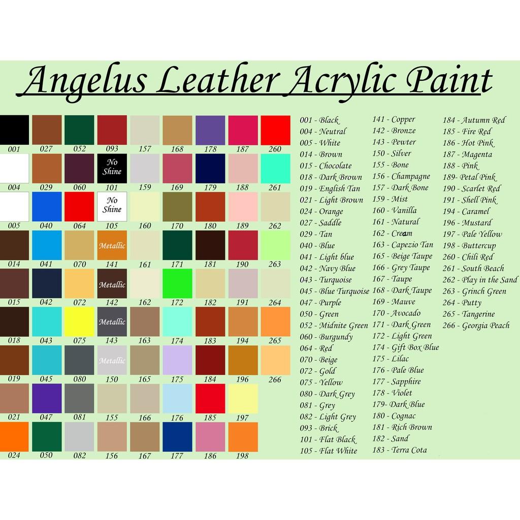 Màu Angelus Leather Paint Dung Tích 30ml, 60ml, 100ml [100% CHÍNH HÃNG] [RẺ NHẤT]