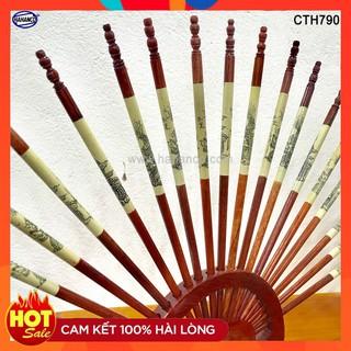 ((TỔNG KHO ĐỒ GỖ )) Bộ đũa thờ 10 đôi + Giá đũa (Gỗ hương) – Tâm linh – Truyền Thống – Văn hóa người Việt (CTH790)